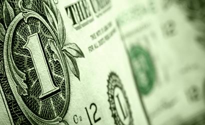 Zoomed in one dollar bill